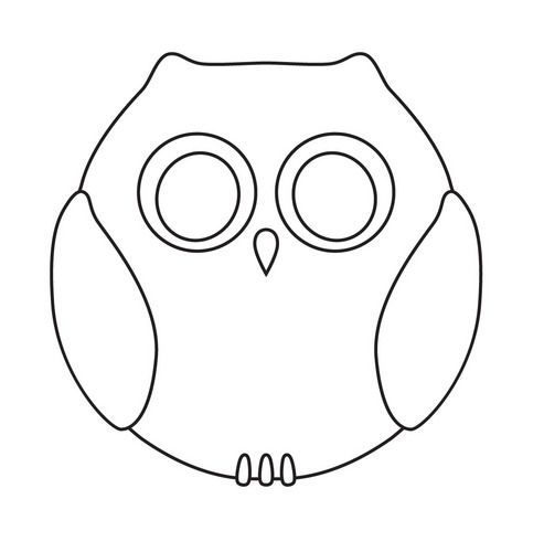 Best Owl Template Images On   Owls Barn Owls And Jelly