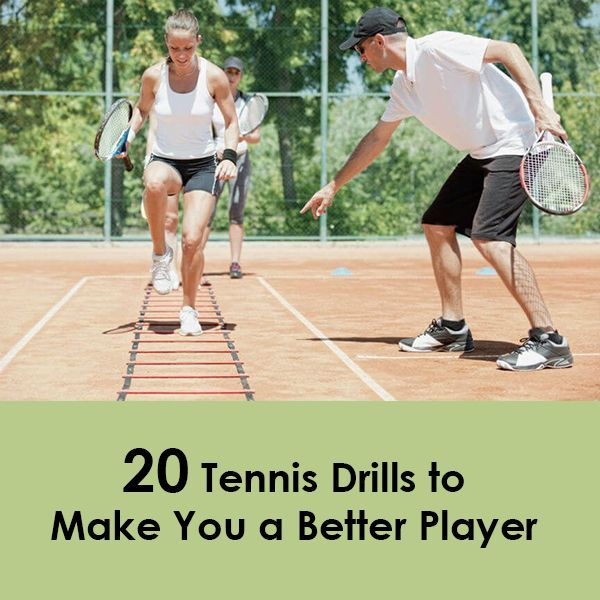 Tennis Drills Can Be Both A Challenging And Fun Way To Improve Your Skills While Drills Are Necessary To Get Bett Tennis Drills Tennis Workout Training Tennis