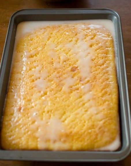 Lemon Jello Poke cake. This is so delicious and moist!