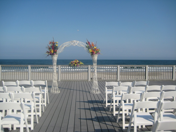 deck of the wedding place