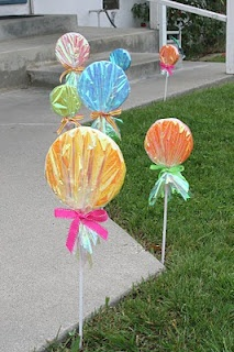 Giant Lollipop decorations for the sweet shoppe birthday party