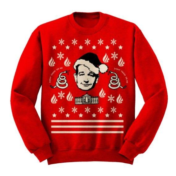 """Ugly Cruz"" Limited Edition Christmas Sweater ||  $65.00 tedcruz.org"