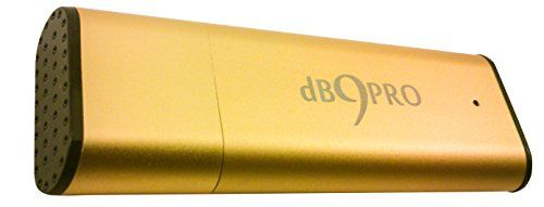 dB9PRO Best Spy Voice Recorder With USB [Gold] - 8GB / 96 Hrs Capacity Digital Recorder - Secret Audio Recording Equipment With Microphone - Record With Hidden Device - FIND FREEDOM FROM TAKING NOTES! With 2 Lanyards and E-Book! NEVER MISS ANOTHER WORD!