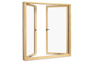 French casement window for indoor-kitchen-to-outdoor-kitchen pass-through