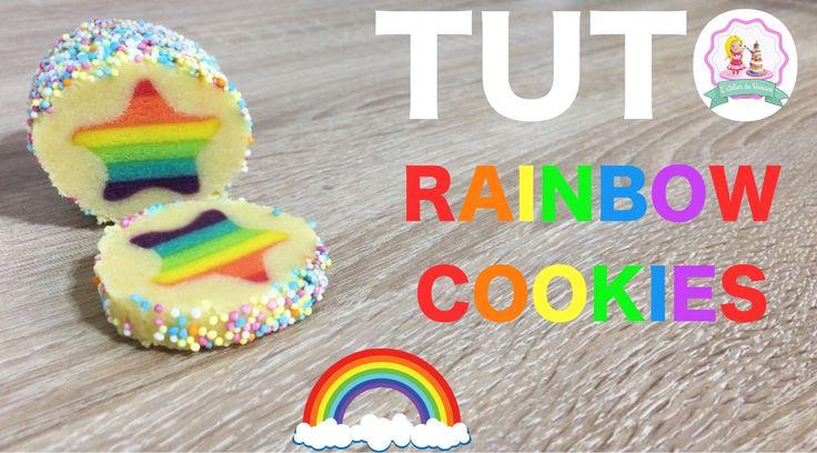 rainbow cookies recipe, recette biscuits arc en ciel,