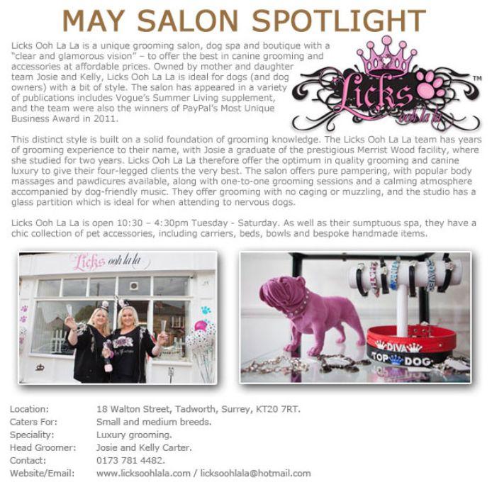Salon Spotlight May 2013, Licks Ooh La La