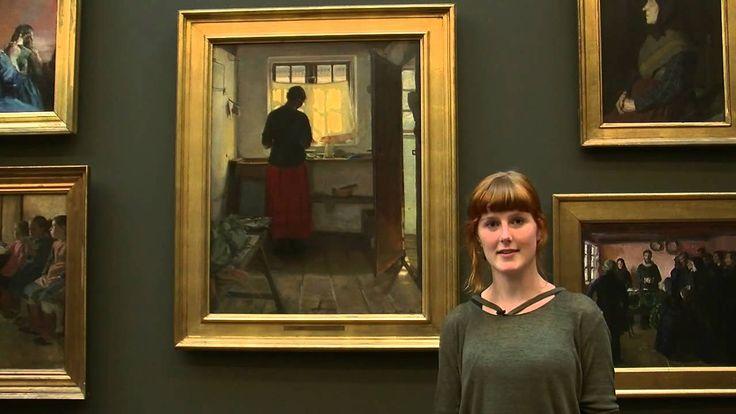 """Dorothea Saabye fortæller om Anna Anchers """"Pigen i køkkenet"""" 1883 og 1886."""