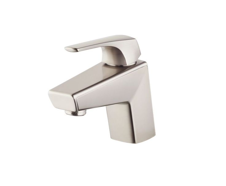 Pfister LG42-LPM Arkitek 1.2 GPM Single Hole Bathroom Faucet - Includes Push & S Brushed Nickel Faucet Lavatory Single Handle