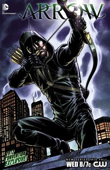 DC Comics is planning an Arrow comic book to coincide with the CW's Arrow premiere on October 1oth. It's being written by show runners Marc Guggenheim and Andrew Kreisberg.