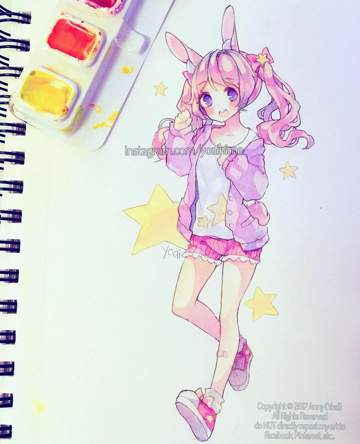 "27.6 mil Me gusta, 133 comentarios - Yoai / Anny ⊂((・▽・))⊃ (@yoaihime) en Instagram: ""So for a fun challenge I decided that instead of my Kois and watercolour paper, I would use a cheap…"""