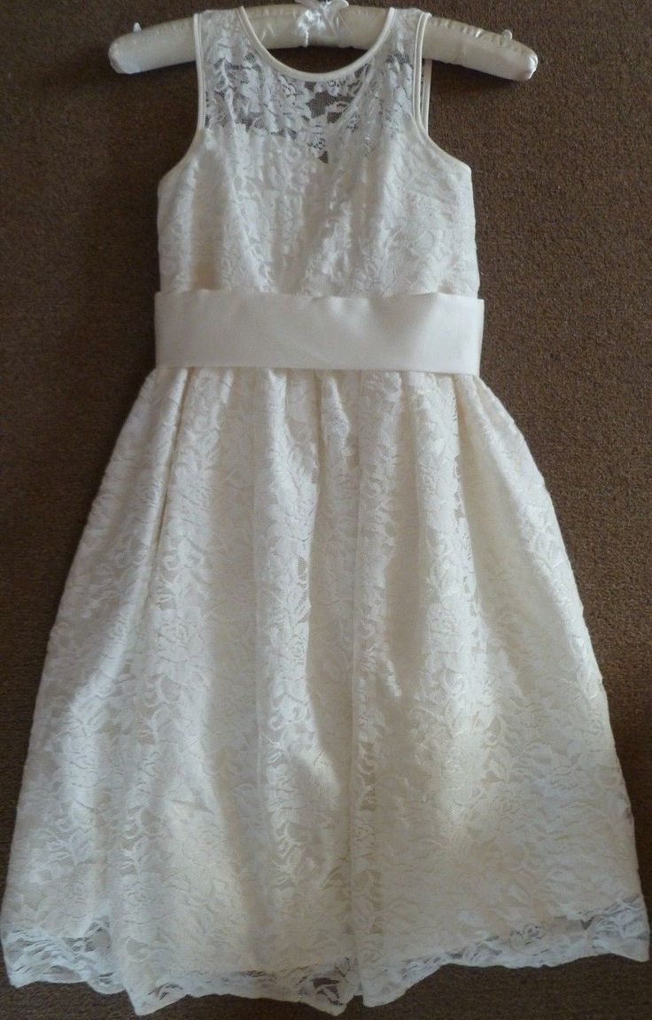 New marks & #spencer #bridesmaid/occasion #dress white ages 7 to14 rrp £40,  View more on the LINK: http://www.zeppy.io/product/gb/2/182314972493/