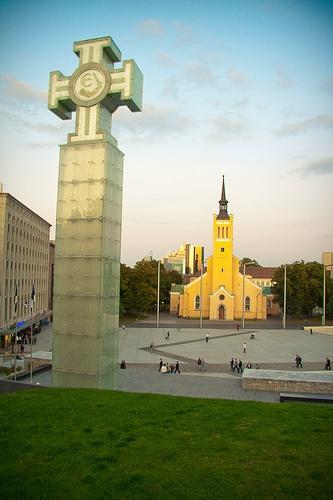 The New Freedom Square in Tallinn ♡ #VisitEstonia #ColourfulEstonia