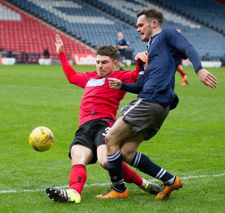 Queen's Park's Aidan McIlduff in action during the Ladbrokes League One game between Queen's Park and Brechin City.