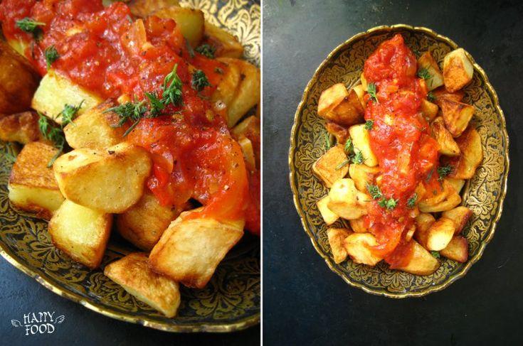 Картофельный бравас (patatas bravas) monini rice bran