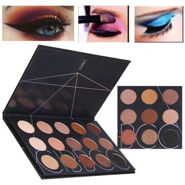 15 cores mate sombreamento Shimmer maquiagem paleta de sombra de olho cosméticos