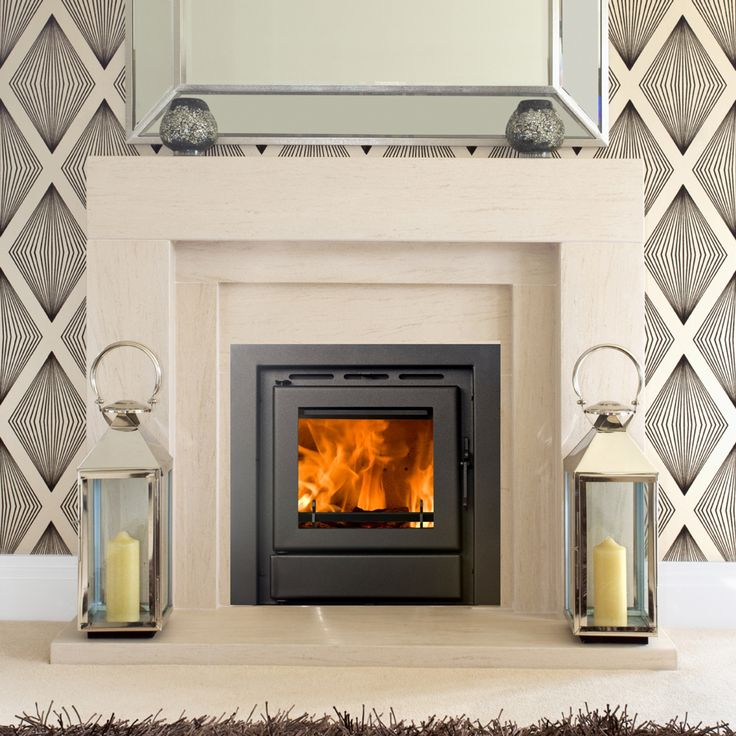 contemporary fireplace surrounds for cassette woodburners - Google Search