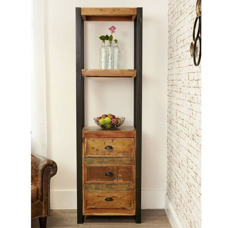 Our Shoreditch Alcove Bookcase With Drawers Is Hand Finished, Using A  Unique Blend Of Reclaimed