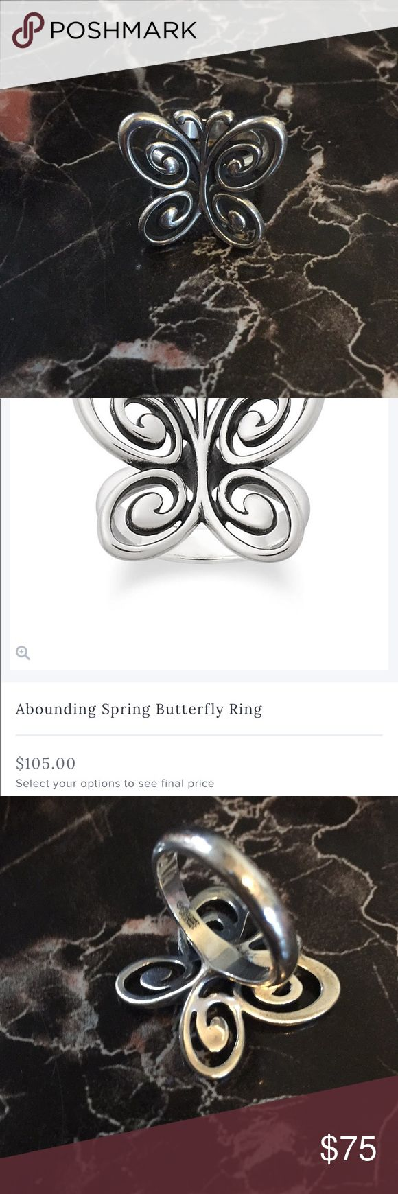 James Avery Abounding Spring Butterfly Ring Amazing condition ring by James Avery. Size 6. Super lovely piece but not reasonable for my type of work where I wear latex gloves everyday. Will polish before shipping out! James Avery Jewelry Rings