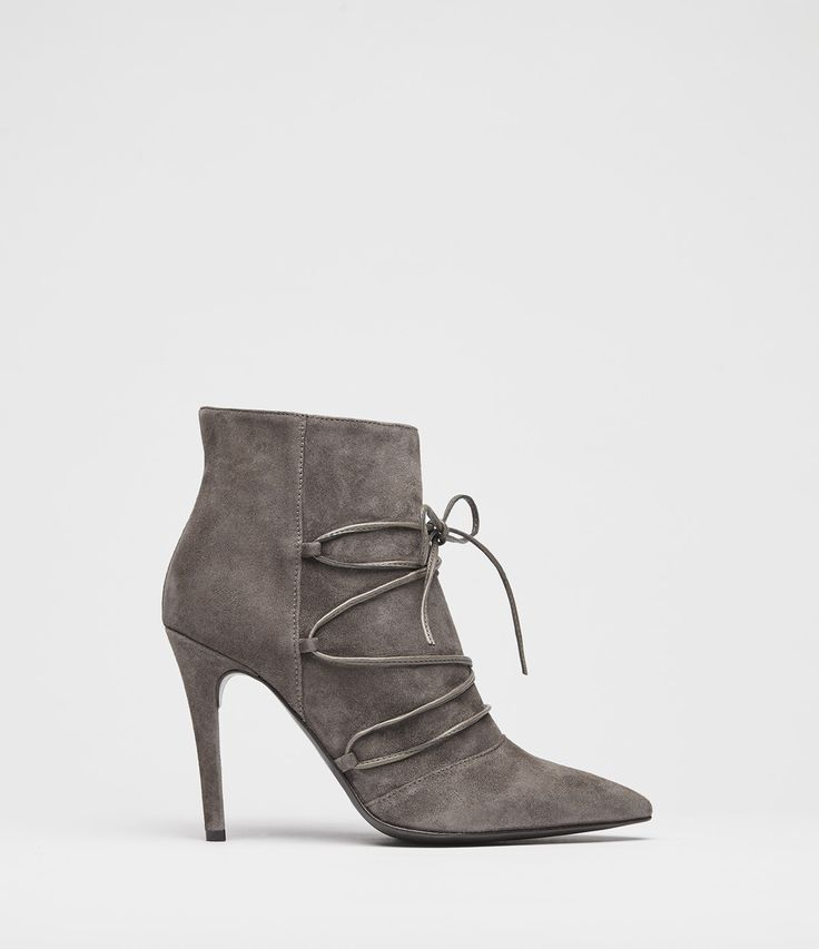 stiletto stiefeletten taupe grey side