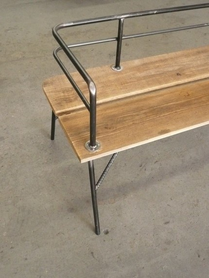Simple Wood Metal Bench Home Design Pinterest