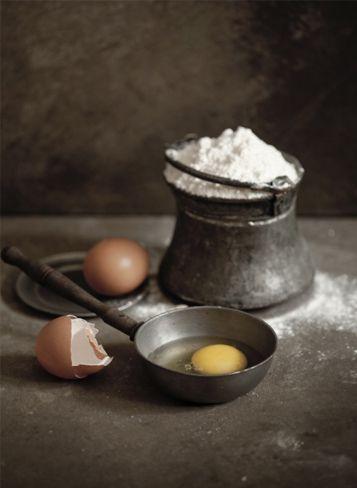 Flour & Eggs | #ingredients #messy #dark