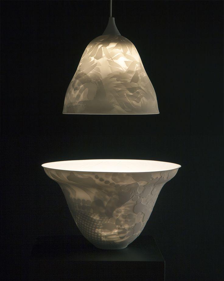 Bowl Lit By Lamp ~ Arne Ase Ceramics