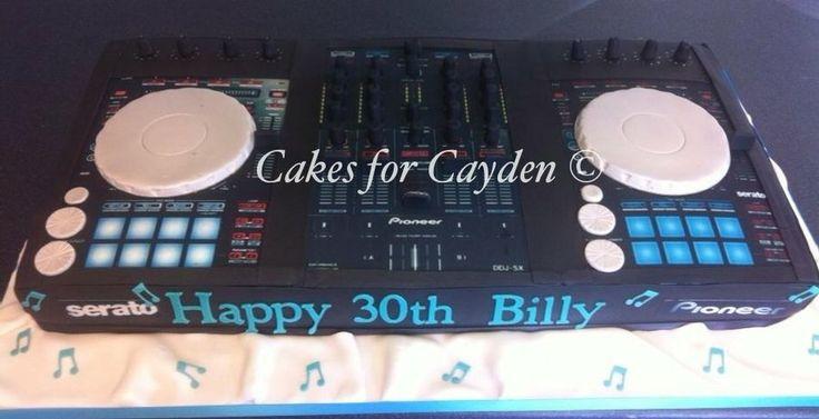 Pioneer DJ Decks Cake - by Nichola @ CakesDecor.com - cake decorating website