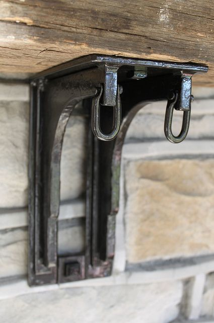 mantle brackets by Maynard Studios, for deco complement