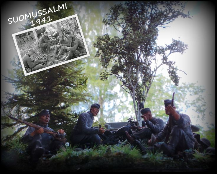 http://makingscalemodels.blogspot.fi/p/projects.html #wwii #dioramas #suomussalmi