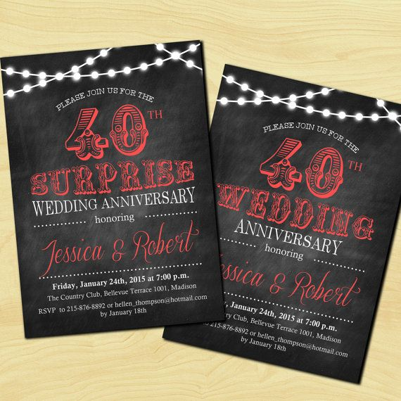 40th Wedding Anniversary / 45th / Ruby Red / by TheStarDustFactory