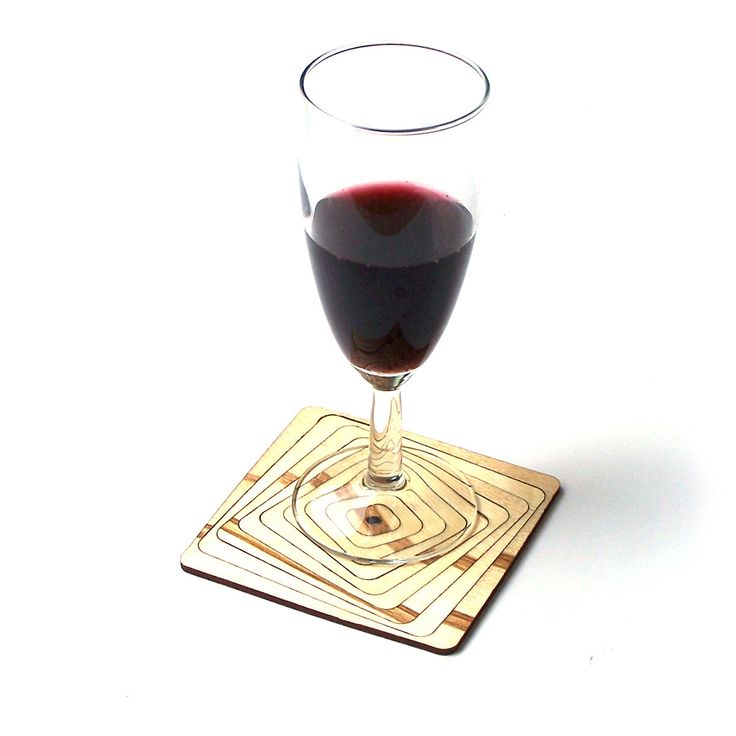 PRODUCTS :: LIVING AND DESIGN :: Kitchen :: Trivets :: Set of elegant laser cut wooden coasters - Model 5.1