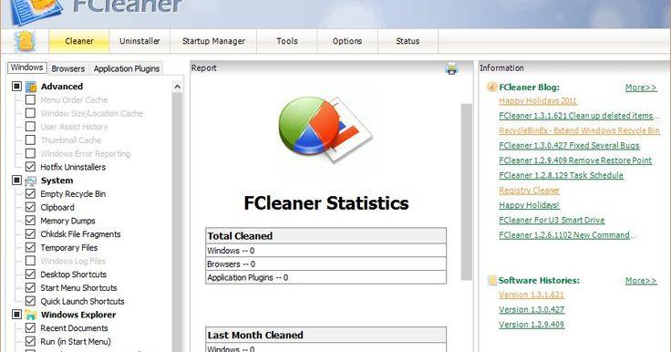 Το FCleaner είναι ένα δωρεάν λογισμικό όλα σε ένα για τον καθαρισμό του μητρώου των Windows και γενικότερα ένα χρήσιμο εργαλείο βελτιστοποίησης των Windows. Αφαιρεί αχρησιμοποίητα αρχεία και άκυρες καταχωρήσεις μητρώου που καταναλώνουν χώρο στο δίσκο σας και επιβραδύνουν το σύστημά σας. Ακόμη προστατεύει την ιδιωτική ζωή σας διαγράφοντας το ιστορικό και τα Cookies. Μπορείτε να διαγράψετε όλα τα ίχνη των online δραστηριοτήτων σας απλά και ένα μόνο με κλικ με τη βοήθεια της FCleaner. Τέλος…