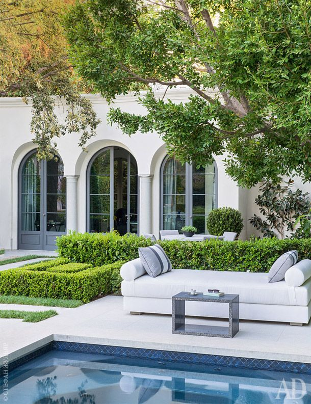 Beverly Hills Garden with Kevin Clark architect and Daniel Cuevas interiors