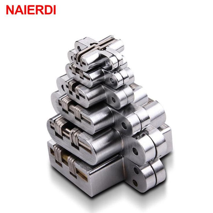 2PCS NAIERDI 304 Stainless Steel Hidden Hinges Seven Size Invisible Concealed Folding Door Hinge For Kitchen Furniture Hardware - ICON2 Luxury Designer Fixures  2PCS #NAIERDI #304 #Stainless #Steel #Hidden #Hinges #Seven #Size #Invisible #Concealed #Folding #Door #Hinge #For #Kitchen #Furniture #Hardware