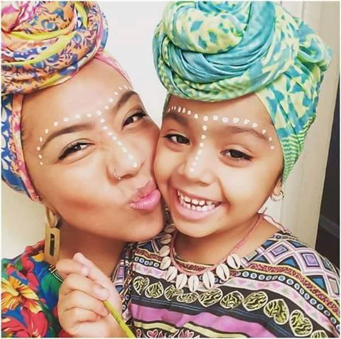 Mother And Child, Wrapped Beauties IG:@unfadingroyalty #naturalhairmag