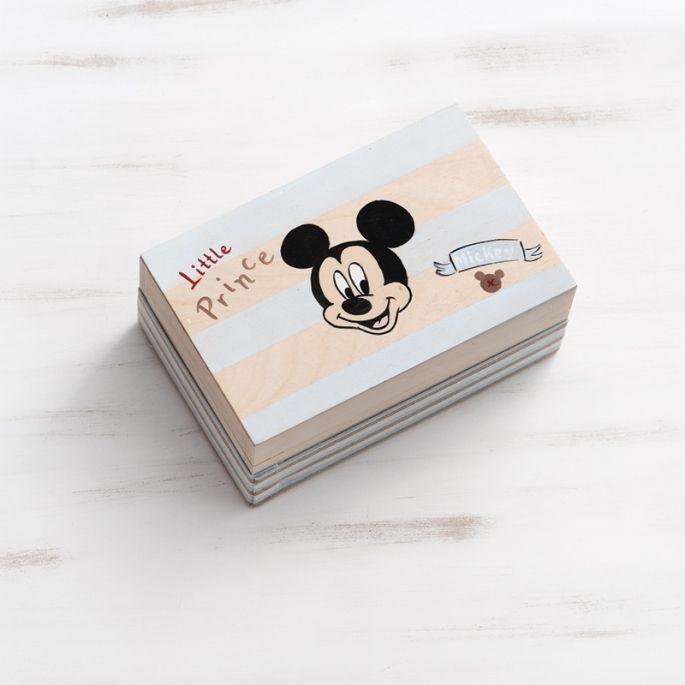 Κουτί Μαρτυρικών βάπτισης Mickey Prince - ΠΑΡΙΣΗΣ | Είδη γάμου & βάπτισης