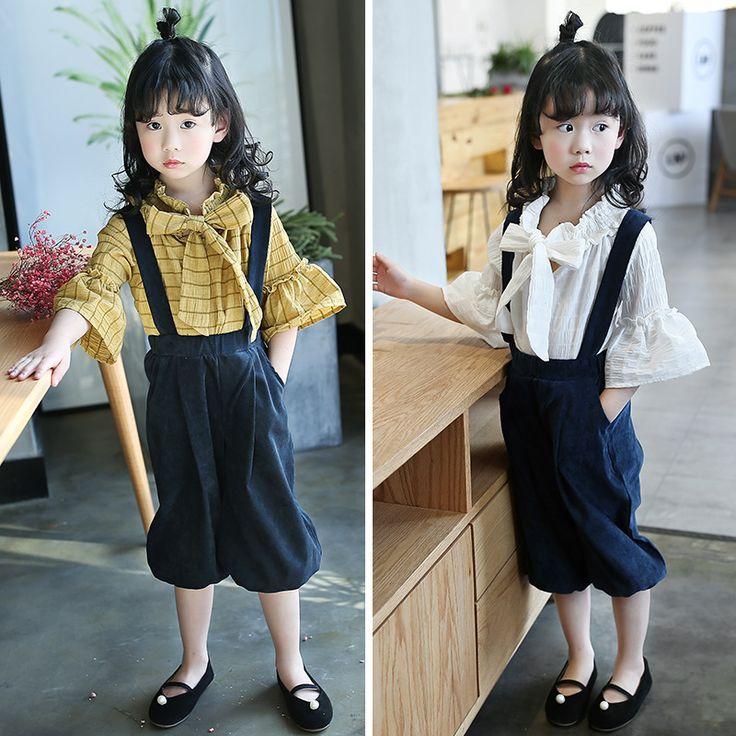 11 suspender pants girls summer clothes 2017 sets teenage little girls clothing sets size 7 6 8 12 10 12 blouses pants girls set -- Ini pin AliExpress affiliate.  Klik gambar untuk melihat detail