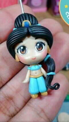 Polymer clay Jasmine by fern