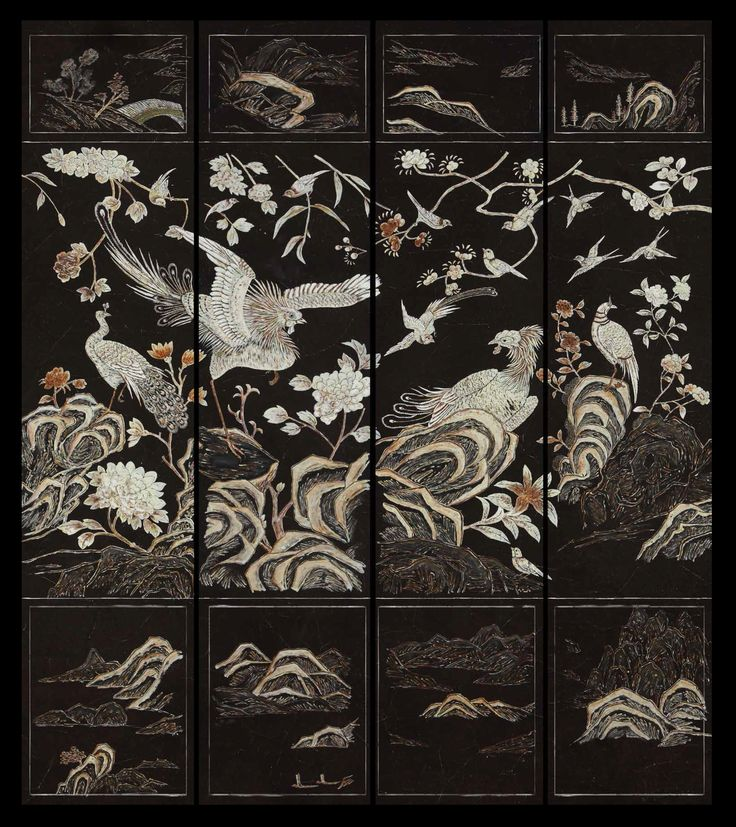Chinoiserie screens, De Gournay inspired by Coco Chanel