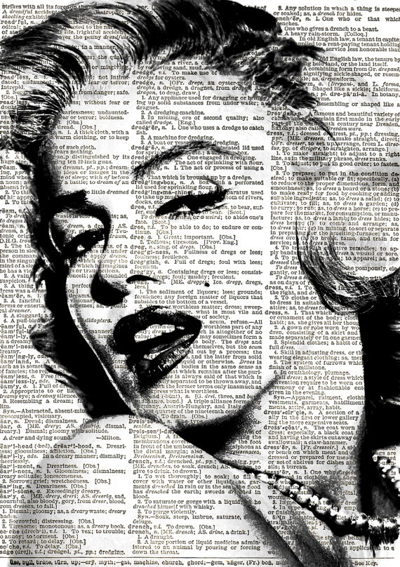 Marilyn Monroe Print Vintage Dictionary Art by VintageElleStudio, £5.50