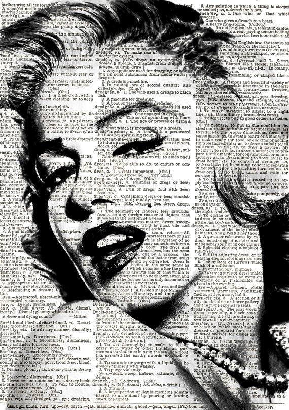 Marilyn Monroe Print Vintage Dictionary Art by VintageElleStudio, £5.50