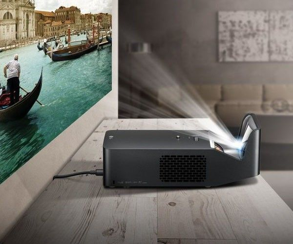 Enjoy your movies cinema style even in a small space with the LG PF1000U Ultra Short Throw Projector.