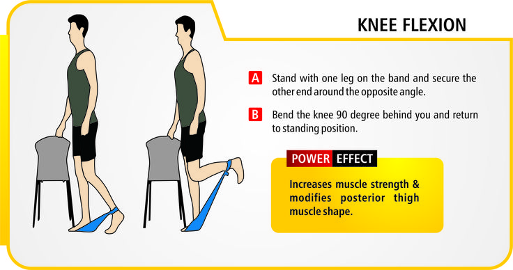Knee flexion. (exercise / resistance bands should be used ...