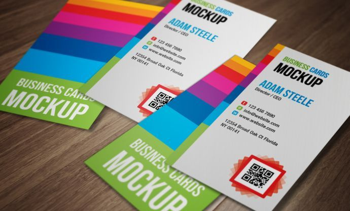 vertical business card mockup  - Free PSD