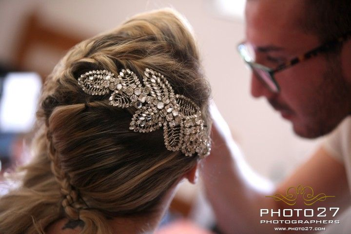 Lovely wedding hairstyle