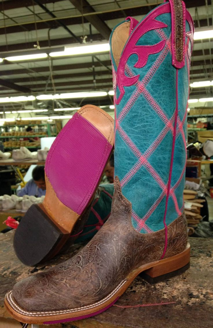 Custom Anderson Bean Boots a customer designed at a trunk show.
