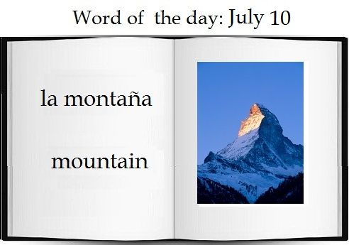 Mountain in Spanish |   The Spanish word of the day is: la montaña.  #Spanish #vocabulary #nature