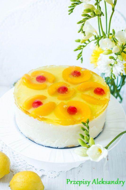 Przepisy Aleksandry: CYTRYNOWO-BRZOSKWINIOWY TORCIK Z KASZY MANNY / no bake semolina cake (flavour: lemon with peaches)