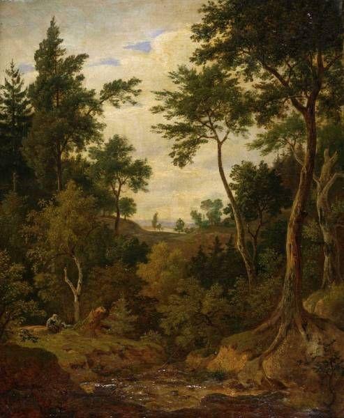 ANTONÍN MÁNES (1784-1843)  Krajina, 1842