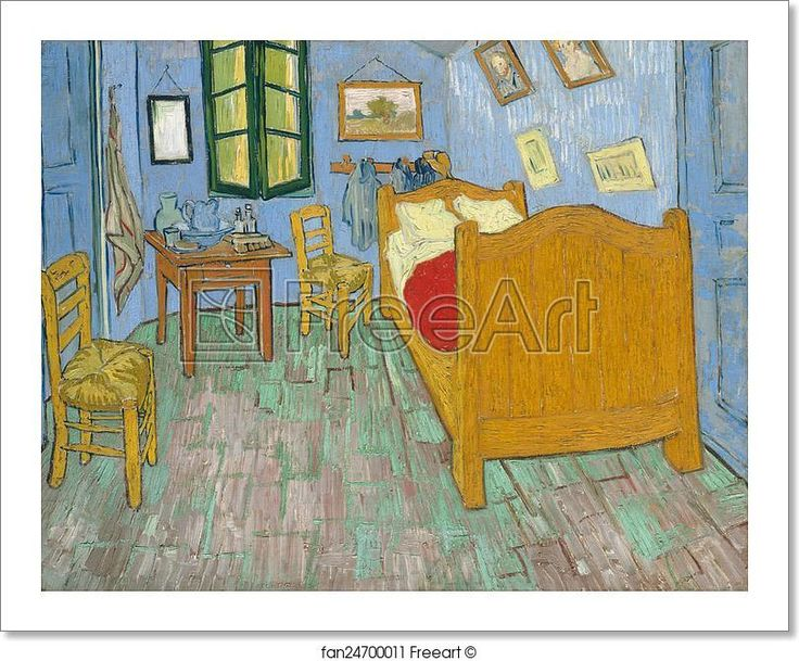 Art print of The bedroom by Vincent Van GoghThe 15 best images about Vincent Van Gogh Art Prints on Pinterest  . The Bedroom Van Gogh Painting. Home Design Ideas
